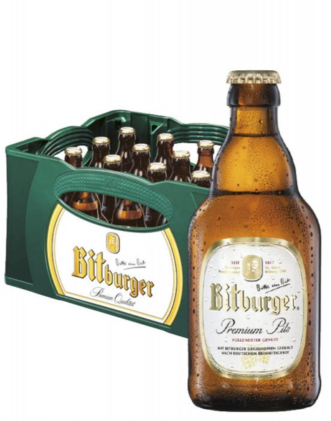 Bitburger Premium Pils 20x0,33l Stubbi