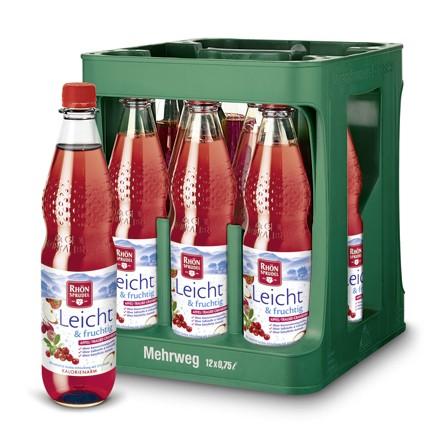 Rhön Leicht & fruchtig Apfel Traube Cranberry Plus 12x0,75l Pet
