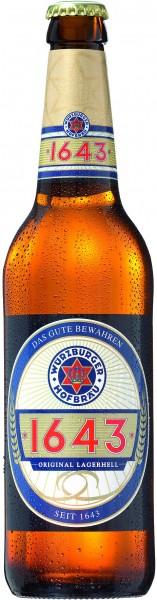 Würzburger Hofbräu 1643 Original lager 20x0,5l