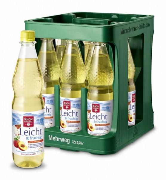 Rhön Leicht & fruchtig Apfel Pfirsich 12x0,75l Pet