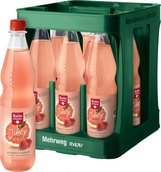Rhön Sprudel Juicy Grapefruit Himbeere 12x0,75l Pet